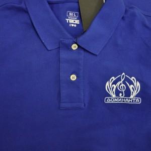 Вышивка логотипа на рубашке поло
