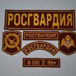 Комплект шевронов и нашивок Росгвардии Москва